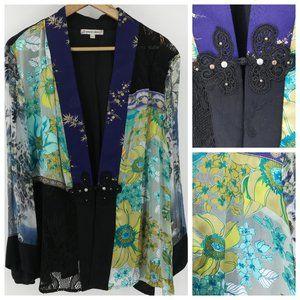 Spencer Alexis Floral Kimono Blazer Size 2X